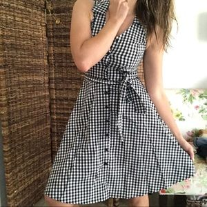 NWT AQUA plaid checkered button down dress